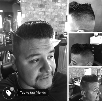 Fade with pompadour n' shear work